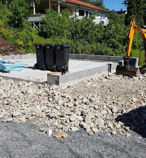 Fundament for garasje på Konglungen