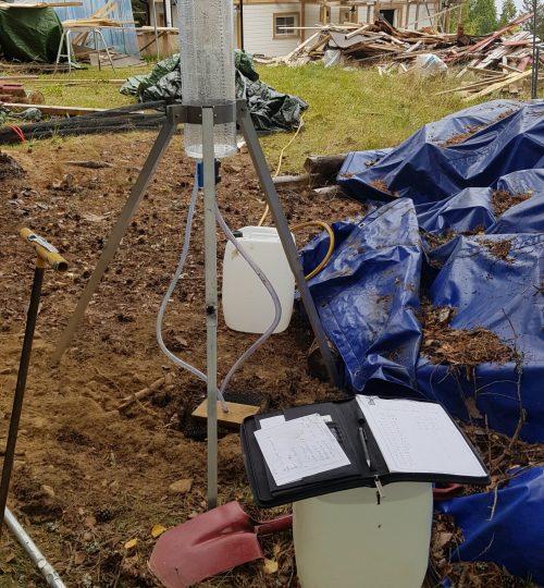 Jordprøver for nytt renseanlegg på Bjoneroa