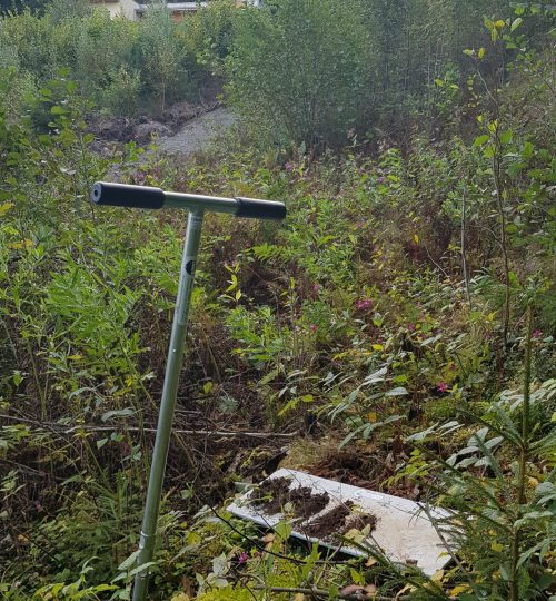 Jordprøver for renseanlegg på Jeløya