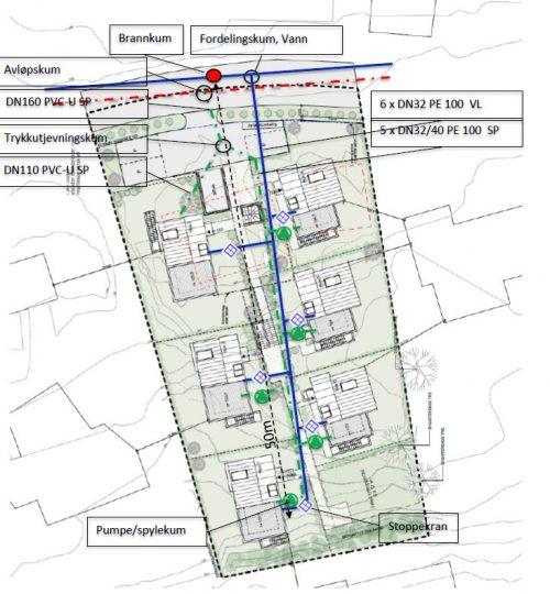 VA-plan for 6 nye eneboliger i Ullernåsen